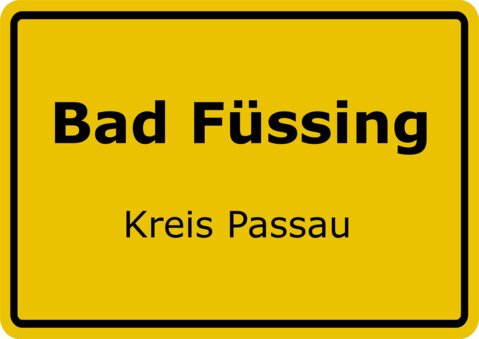 Ortsschild Bad Füssing